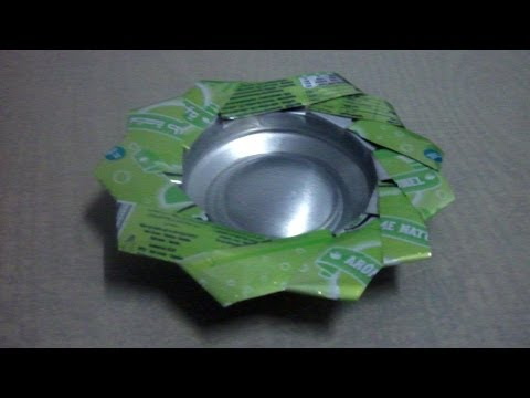 How To Make An Ashtray From Empty Soda Can