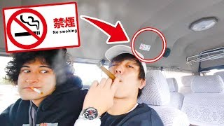 僕たちタクシーでもタバコ吸っちゃう宣言!!【我慢できない】