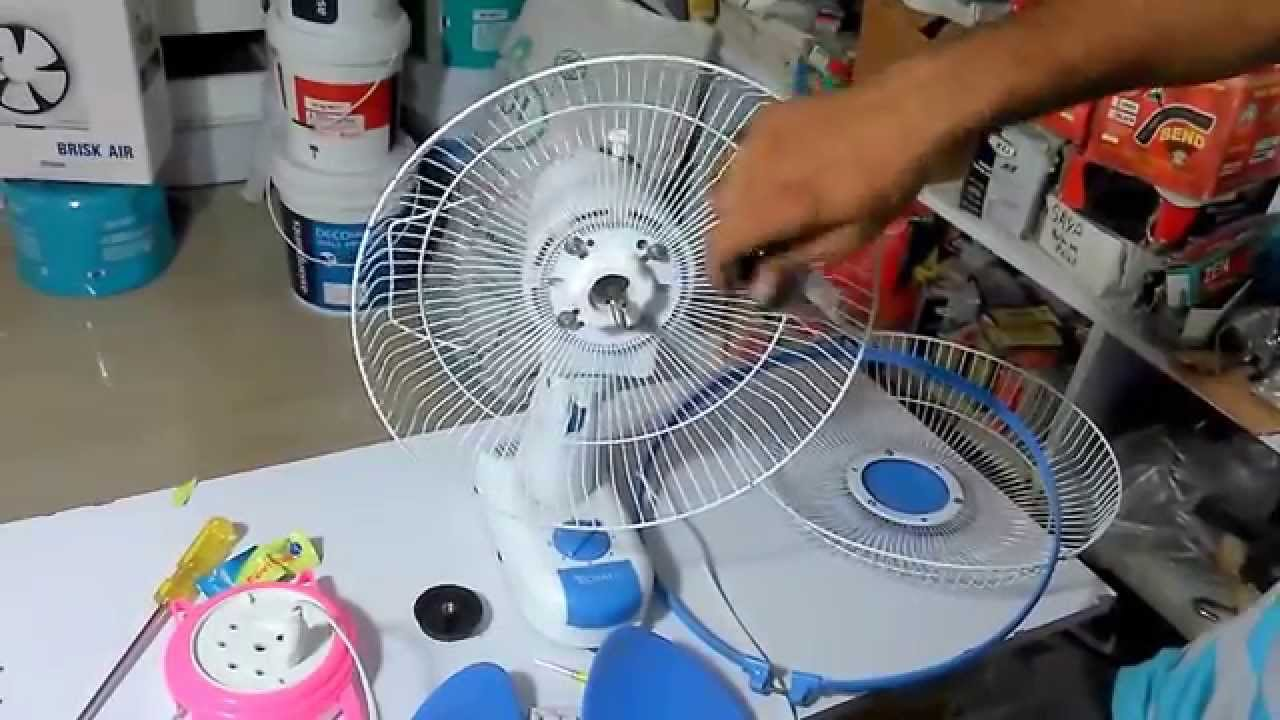 How to Clean & Repair Wall Mounted Fan  YouTube