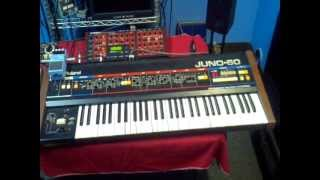 Boss DR-55, Roland Juno-60, Roland MSQ-700 and Access Virus-B ---- All in Sync!