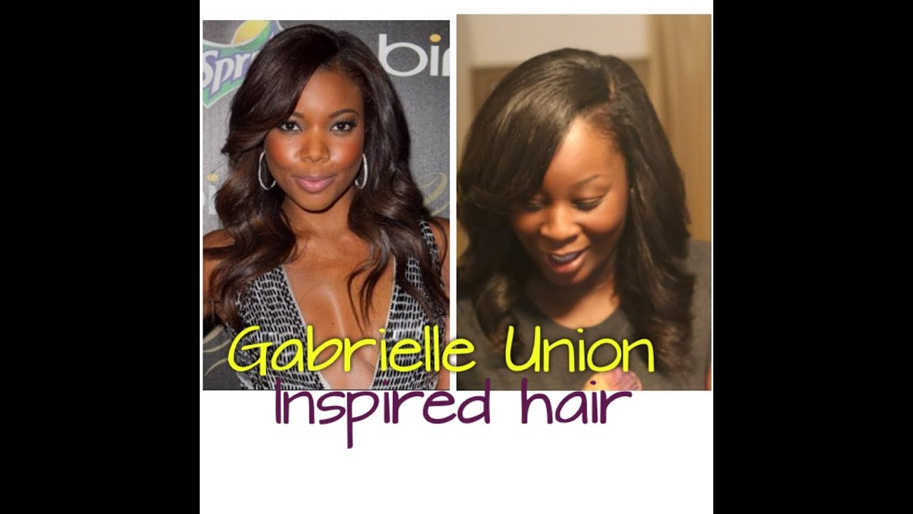 Easy Gabrielle Union Inspired Side Part Sew In Tutorial Youtube