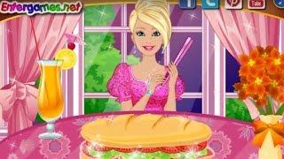 Барби Учится готовить еду! Мультики для девочек! Игры для девочек!