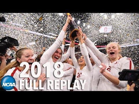 Nebraska v. Stanford: 2018 NCAA volleyball championships (Full replay)