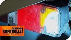 Blinker defekt: Welche LKW-Schäden gibt es nach dem Unfall? | Achtung Kontrolle | kabel eins