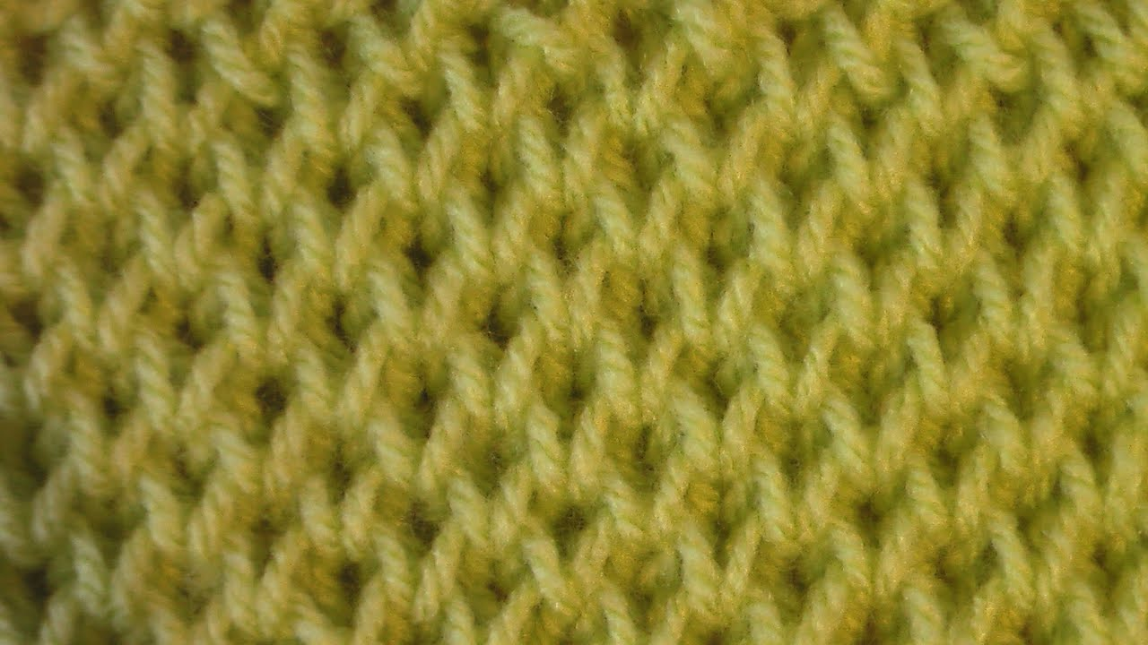 Вязание спицами. соты