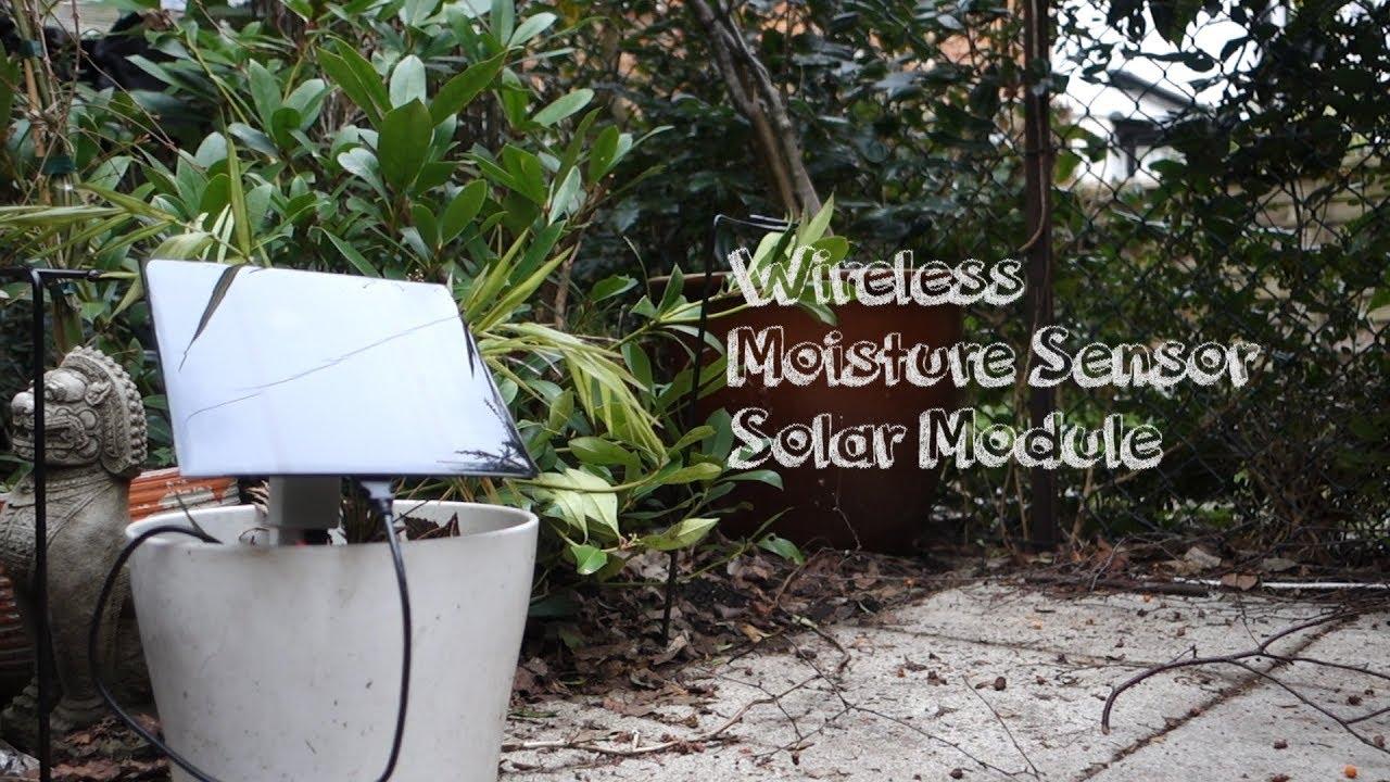 Solar power module for the wireless soil moisture sensor