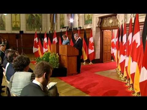 Merkel visits Ottawa