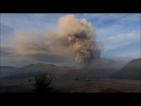 Indonesian volcano spouts ash column