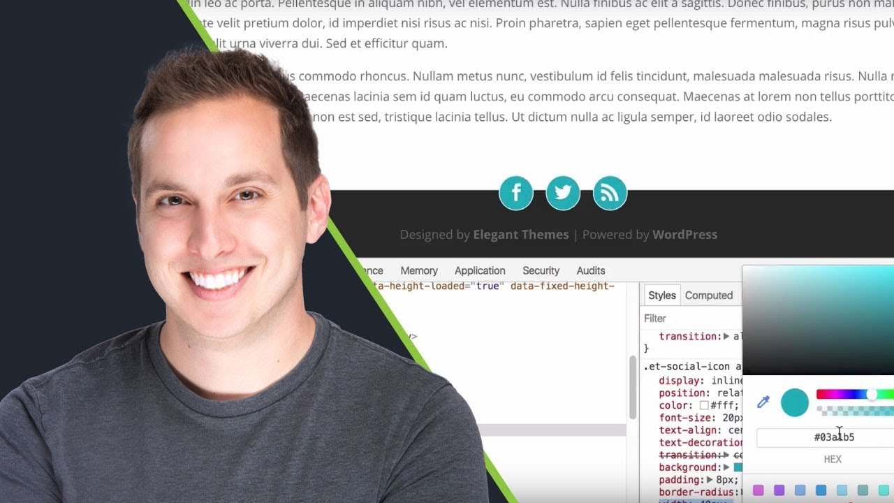 How to Create Overlapping Footer Social Icons in Divi