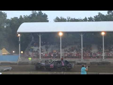 Snooted in one hit. Marion Illinois derby 2012