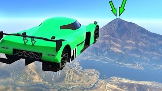 FLY 30 MILES WITH A CAR! (GTA 5 Funny Moments)