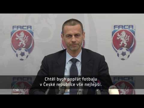 Šéf UEFA Aleksander Čeferin v Praze