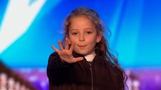 Britain's Got Talent 2017 Issy Simpson Amazing 8 Year Old Magician IRL Hermione Full Audition S11E02