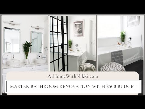 DIY Master Bathroom Makeover On A $500 Budget