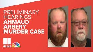 Ahmaud Arbery murder case preliminary hearings live stream