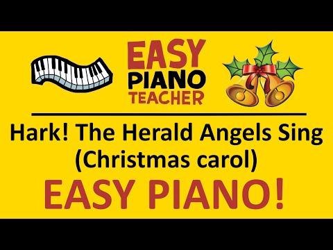 🎹 EASY piano: Hark The Herald Angels Sing keyboard tutorial (Christmas Carol) by #EPT thumbnail