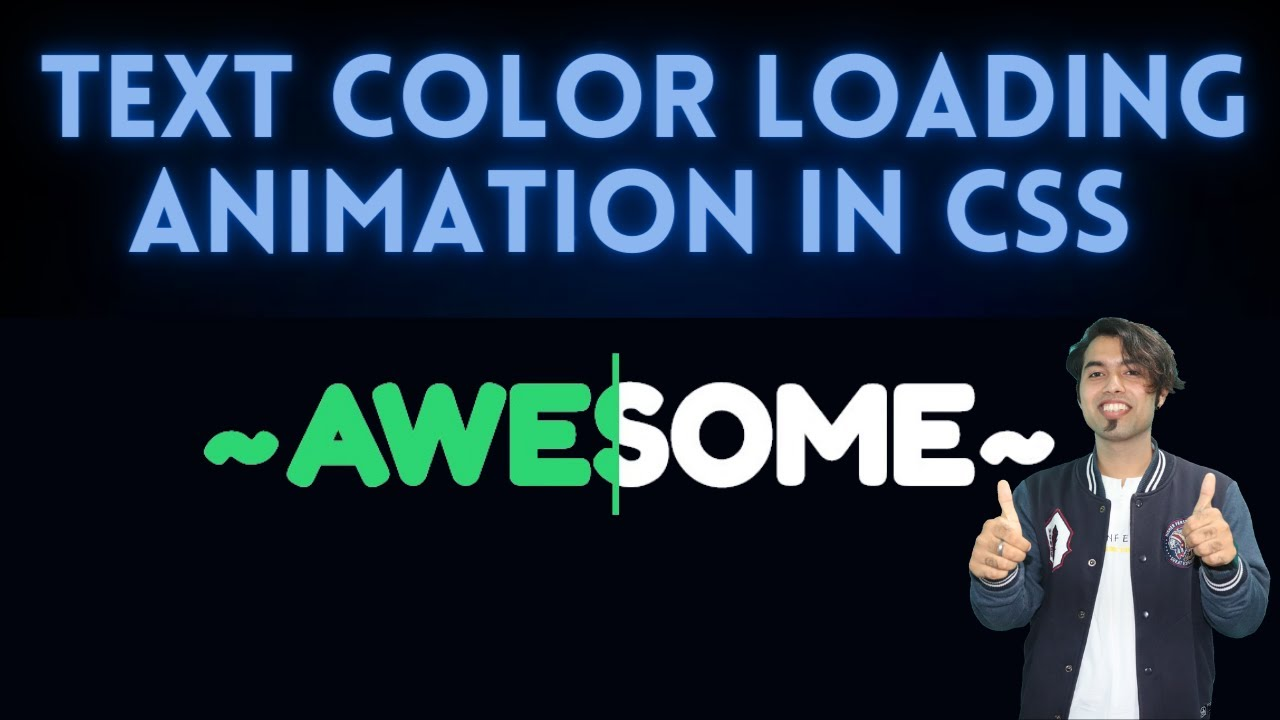 ❤️ Awesome Text Loading Animation In CSS Master Series in Hindi #30
