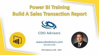 Power BI التدريب بناء المبيعات لوحة التحكم نظرة عامة