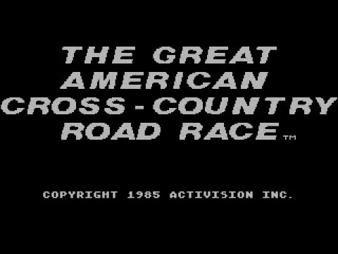 The Great American Cross-Country Road Race Review For The Commodore 64 By John Gage