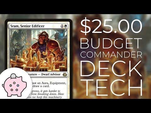 Sram, Senior Edificer - EDH Budget Deck Tech $25 | Magic The Gathering | Commander