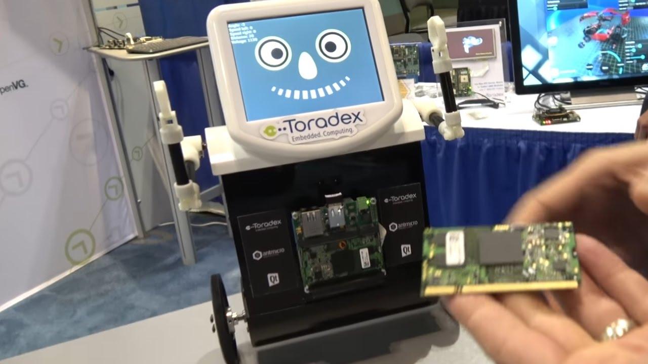 Toradex NXP i MX7 and NVIDIA TK1 Demos at ARM TechCon 2016 by Charbax