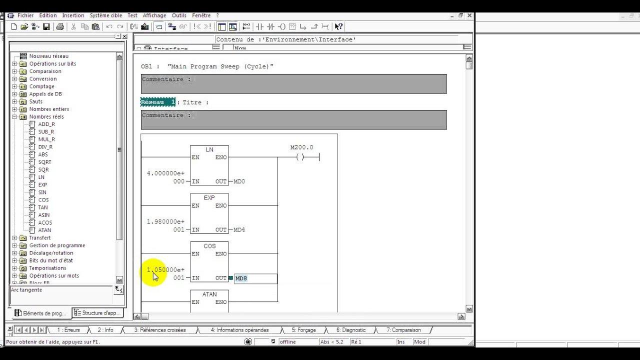 Step 7 simatic manager langage ladder pt 29 instructions math ln step 7 simatic manager langage ladder pt 29 instructions math ln exp sin r ccuart Choice Image