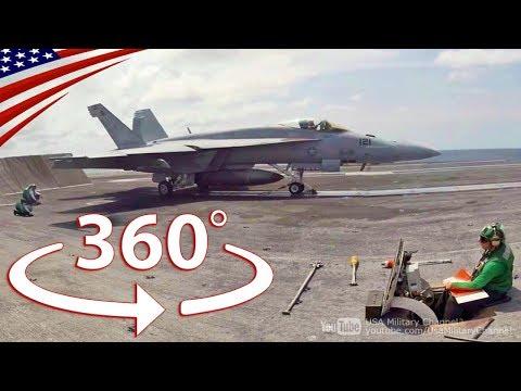 航空母艦を360度動画でVR体験!