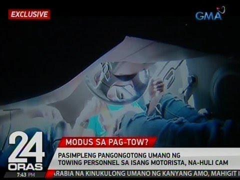 Exclusive: Pasimpleng pangongotong umano ng towing personnel sa isang motorista, na-hulicam