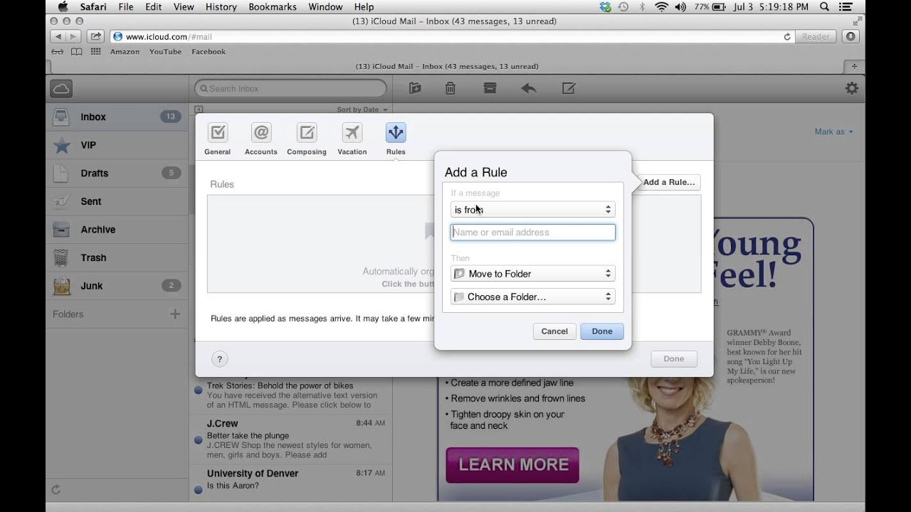 How to block emails in icloud