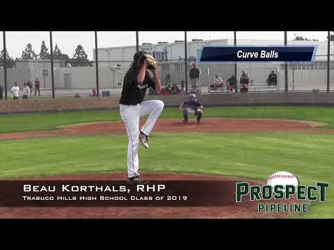 Beau Korthals Prospect Video, RHP, Trabuco Hills High School Class of 2019
