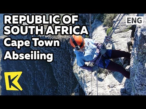【K】South Africa Travel-Cape Town[남아공 여행-케이프타운]밧줄로 하강하는 압세일링/Table Mountain/Abseiling/Cliff