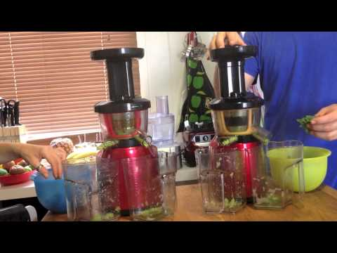 Hurom Juicer review VS Optimum 400 Juicer - Cold Press Juice