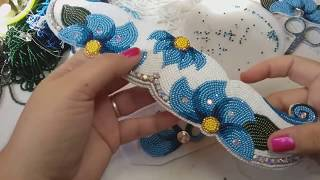 Two needle flat stitch beading [filling in] #2