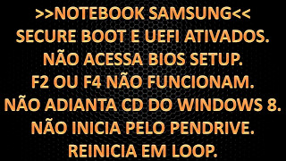 "[NOVO][RESOLVIDO]""All boot options are tried. Press F4"" - Note Samsung - resolver problema do boot."