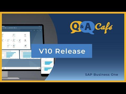 Q&A Café: Enhancements to V10 SAP Business One Including Mobile