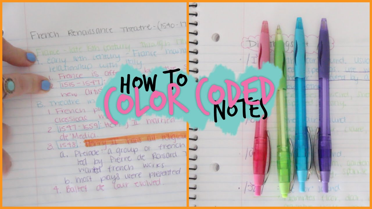 How To Take Awesome Color Coded Notes  YouTube