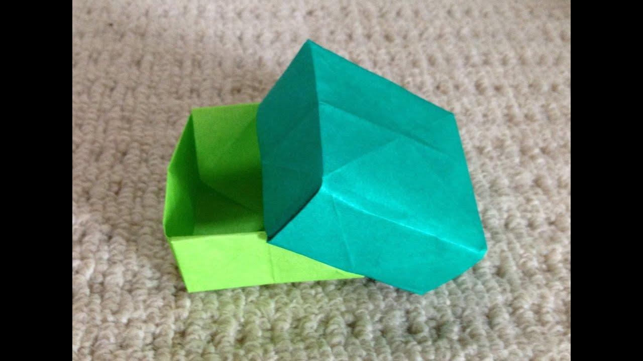 折り紙 蓋付き箱 折り方 作り方 ... : 折り紙四角箱折り方 : 折り方