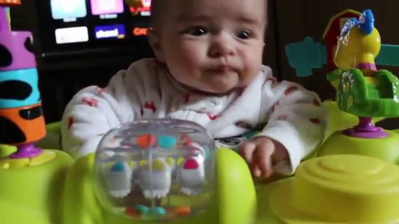 6d3d8ae8d98f 3 Month Old in an Exersaucer - YouTube