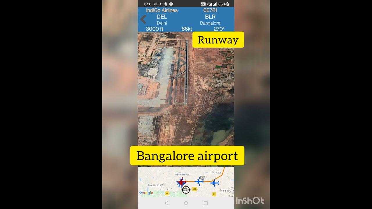 Delhi to Bangalore 3D view of    IndiGo flight    July 16, 2021