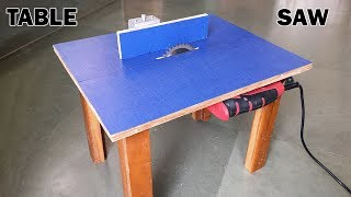 How to Make a Table Saw at Home - Drill powered