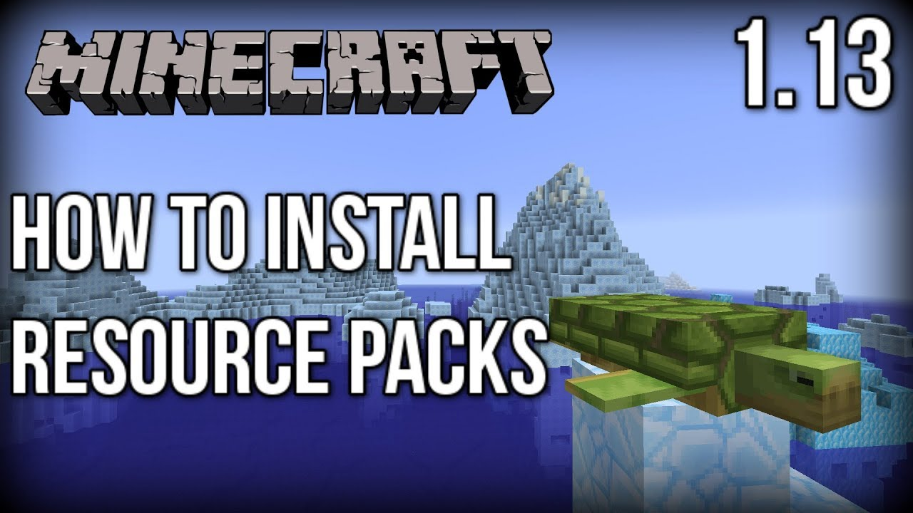 How to INSTALL Resource Packs for Minecraft 1 13! (Update Aquatic)  [Faithful x32]