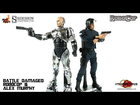 """Video Review of the Hot Toys """"Battle Damaged"""" Robocop and Alex Murphy"""