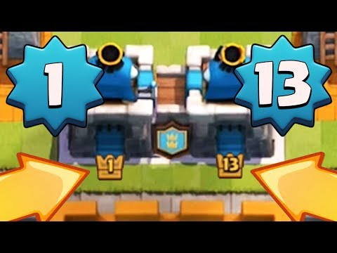LEVEL 1 PLAYER W/ MAXED LEVEL 13?!   Clash Royale   Funny 2v2 Challenge