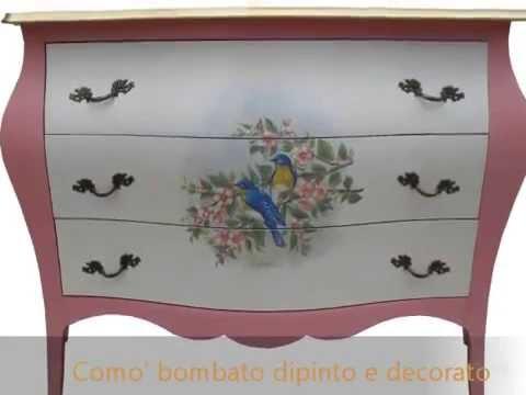 Mobili classici dipinti laccati e decorati in stile - Mobili grezzi da dipingere ...