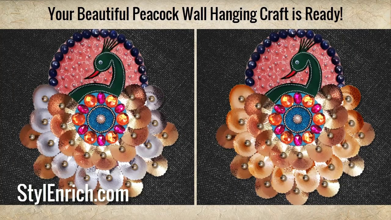 How To Make Beautiful DIY Peacock Wall Decor? | DIY Projects | Recycled Art  | StylEnrich