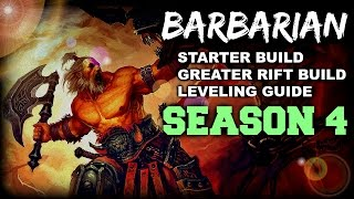Diablo 3 - Barbarian Guide for Season 4 (Patch 2.3) Greater Rift/Starter Builds