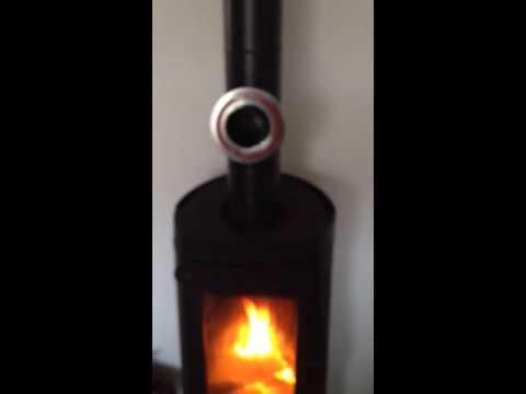 régulateur de tirage poêle à bois - youtube