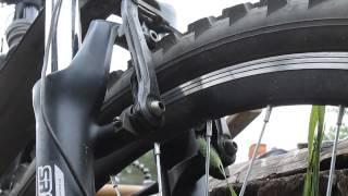 Как настроить V-Brake(После установки новой вилки надо бы поставить новые колодки, заодно покажу как настроить вибрейки., 2014-06-24T08:29:03.000Z)