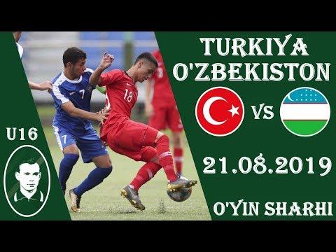 TURKIYA U16 - O'ZBEKISTON U16 O'YIN SHARHI 21.08.2019 VALENTIN IVANOV XOTIRA KUBOGI 2019