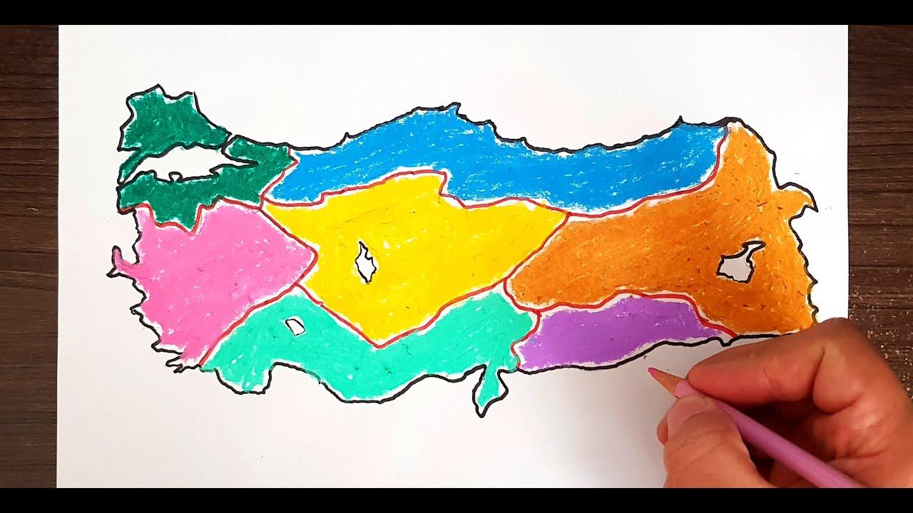 Turkiye Bolgeler Haritasi Cizimi Turkiye Haritasi Nasil Cizilir